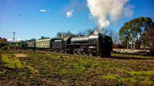 The Southern Encounter Departing Strathalbyn
